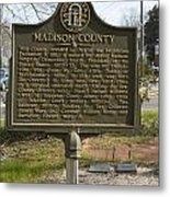 Ga-97-1 Madison County Metal Print