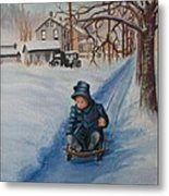 Gails Christmas Adventure Metal Print