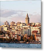 Galata Skyline 01 Metal Print by Rick Piper Photography