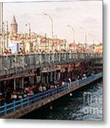 Galata Skyline And Bridge 02 Metal Print