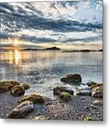 Galiano Sun Star Metal Print