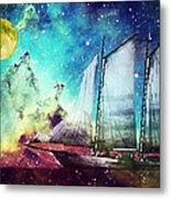 Galileo's Dream - Schooner Art By Sharon Cummings Metal Print