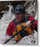 Gallatin Kayaker  Metal Print
