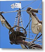 Galleon Lookout Nest Metal Print
