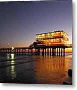 Galveston Fishing Pier 2am-108856 Metal Print