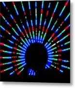 Gama Ray Light Burst Abstract Metal Print