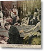 Gamblers At The Tables -  A Winner Metal Print