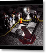 Game - Chess - It's Only A Game Metal Print by Mike Savad