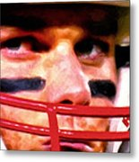 Game Face Metal Print