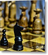 Game Of Chess Metal Print