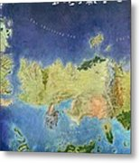 Game Of Thrones World Map Metal Print
