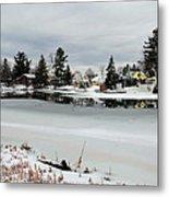 Gananoque River In Winter 4 Metal Print