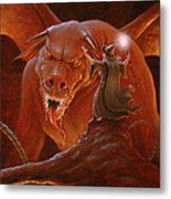 Gandalf Fighting The Balrog Metal Print by John Silver