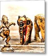 Ganesh Dream Metal Print by Olivier Le Queinec