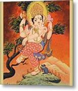 Ganesh Art Metal Print