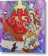 Ganesha  Laksami Metal Print