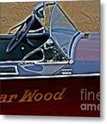 Gar Wood Boat Metal Print
