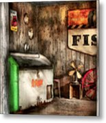 Garage - Just Behind The Garage Metal Print