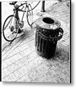 Garbage Bike  Metal Print