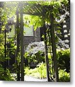 Garden Arbor In Sunlight Metal Print by Elena Elisseeva