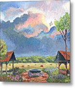 Garden Before The Storm Metal Print