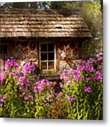 Garden - Belvidere Nj - My Little Cottage Metal Print by Mike Savad
