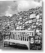 Garden Bench Metal Print by Chevy Fleet