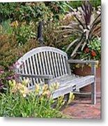 Garden Benches 3 Metal Print