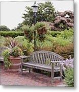 Garden Benches 6 Metal Print