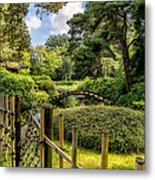 Garden Bridge Metal Print