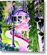 Garden City Gazebo Metal Print