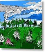 Garden Clouds Metal Print
