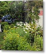 Garden Cottage Metal Print by Bill Wakeley