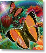 Garden Day Metal Print by Alixandra Mullins