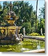 Garden Fountain - Iconic Fountain At The Huntington Library And Botanical Ga Metal Print