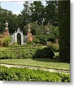 Garden Gate Governers Palace Metal Print