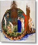 Garden Of Eden: Adam & Eve Metal Print
