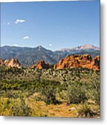 Garden Of The Gods And Pikes Peak - Colorado Springs Metal Print