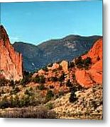 Garden Of The Gods Sunrise Panorama Metal Print