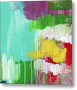 Garden Path- Abstract Expressionist Art Metal Print