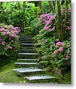 Garden Pathway Metal Print