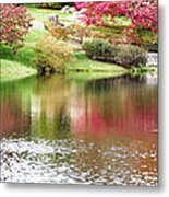 Garden Pond Metal Print