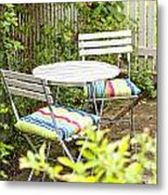 Garden Seating Area Metal Print