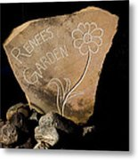 Garden Signs Metal Print by The Stone Age