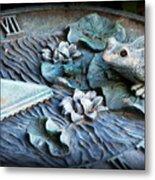 Garden Sundial Metal Print