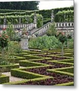 Garden Symmetry Chateau Villandry  Metal Print