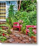 Garden Treasures At Aunt Eden's By Diana Sainz Metal Print
