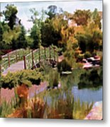 Japanese Gardens - Garden View Series 05 Metal Print