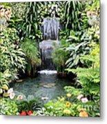Garden Waterfall Metal Print by Carol Groenen