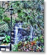 Garden Waterfall Metal Print
